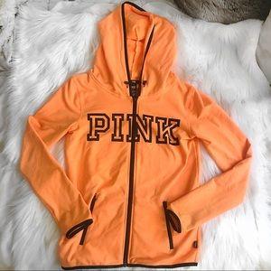 VS Pink orange zip up hoodie